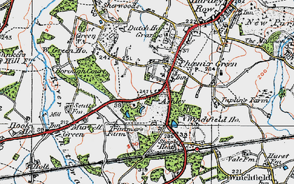Old map of Phoenix Green in 1919
