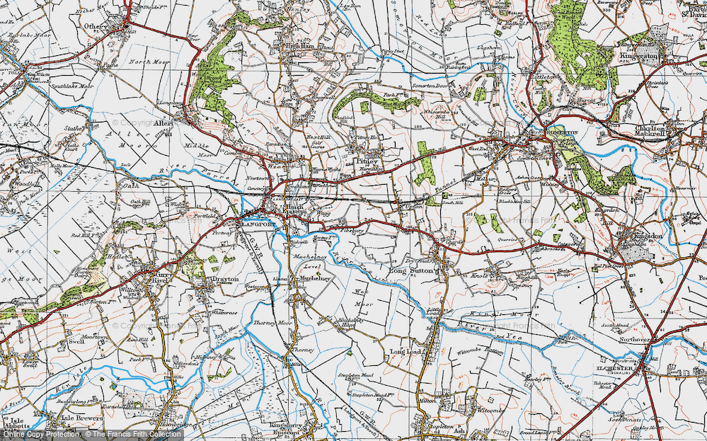 Old Map of Historic Map covering Ablake in 1919