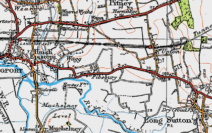 Old map of Ablake in 1919