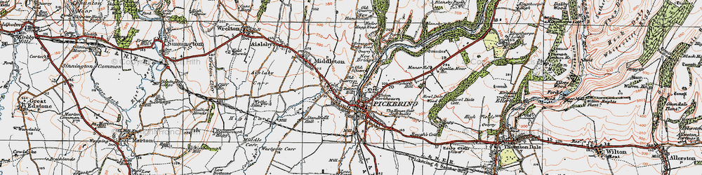 Old map of Westgate Carr in 1925