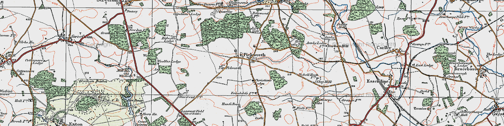Old map of Woodhead in 1922