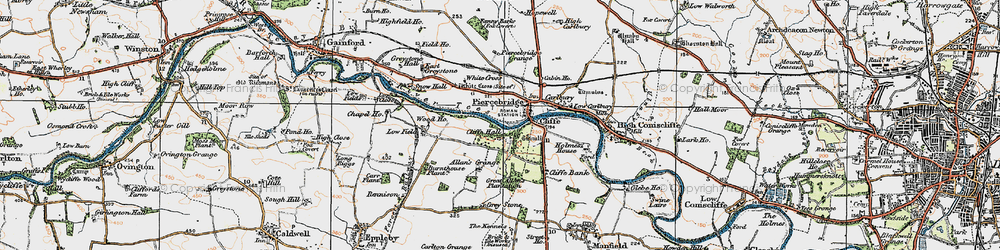 Old map of White Cross in 1925