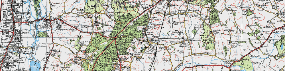 Old map of Ambresbury Banks in 1920