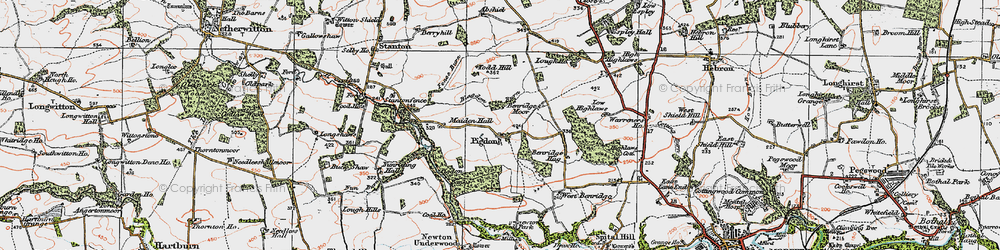 Old map of Todd Hill in 1925