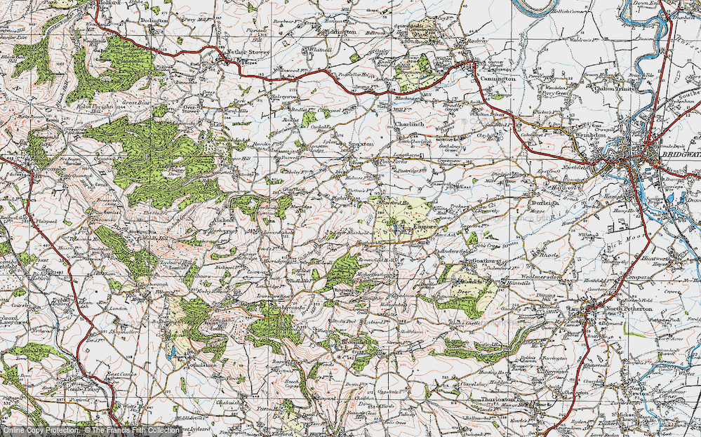 Old Map of Historic Map covering Barford Ho in 1919
