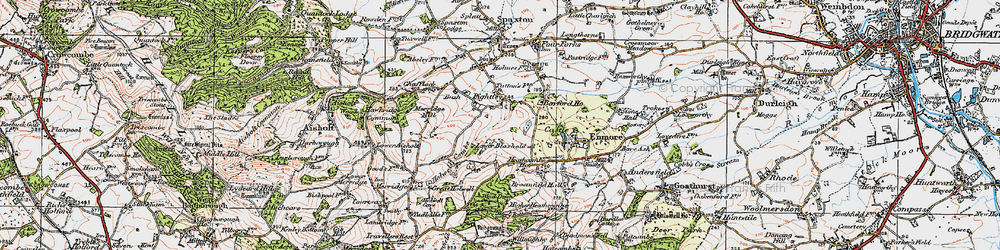 Old map of Wind Down in 1919