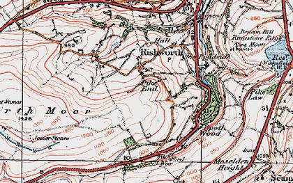Old map of Baitings Resr in 1925