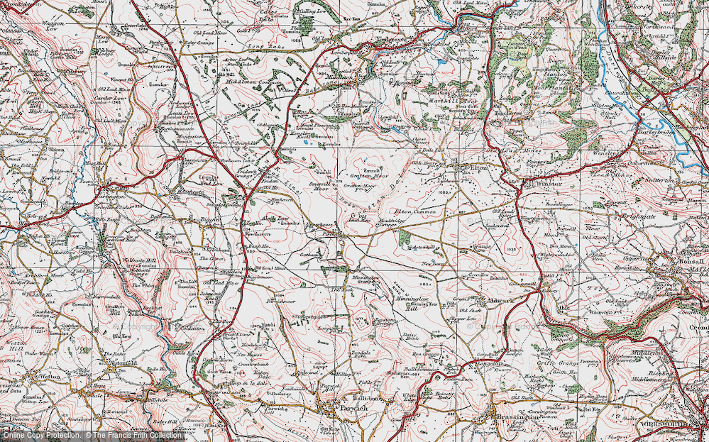 Old Map of Historic Map covering Astonhill in 1923