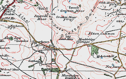Old map of Astonhill in 1923