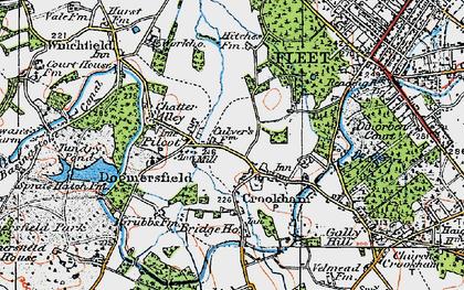 Old map of Pilcott in 1919