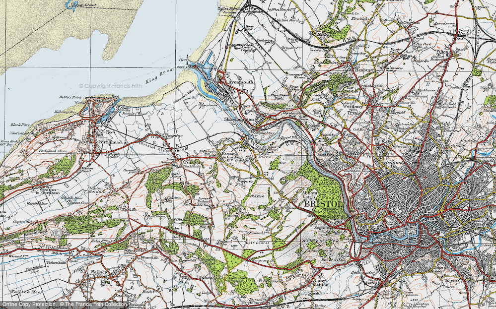 Old Map of Pill, 1919 in 1919