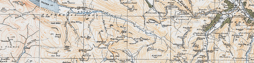 Old map of Wind Gap in 1925