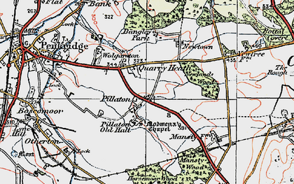 Old map of Bangley Park in 1921