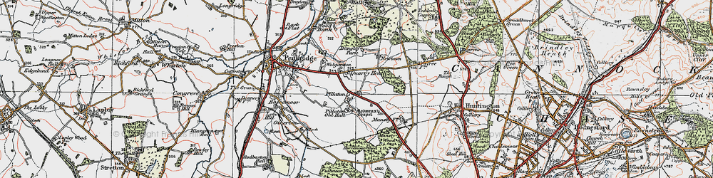 Old map of Wolgarston in 1921