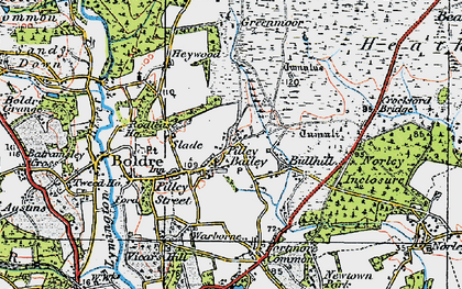 Old map of Pilley in 1919