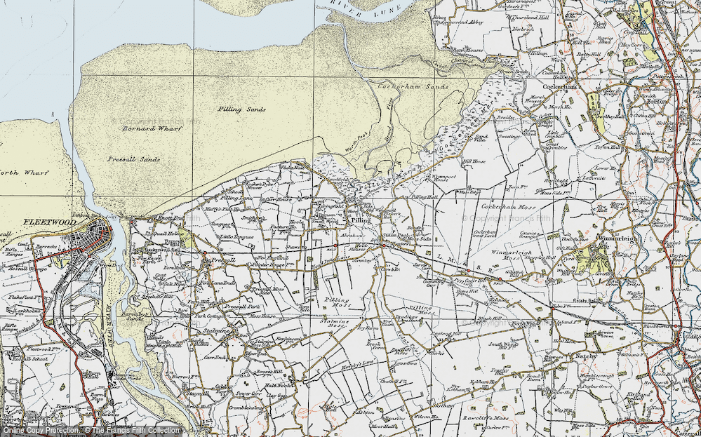 Old Map of Pilling, 1924 in 1924