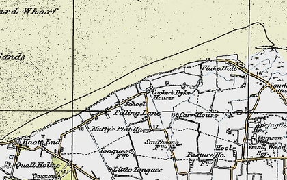 Old map of Wyre-Lune Wildfowl Sanctuary in 1924