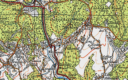 Old map of Pillowell in 1919