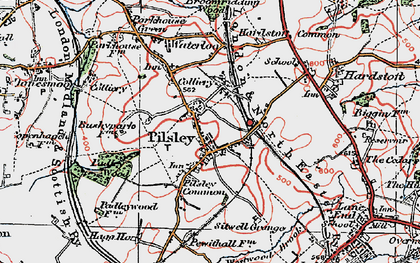 Old map of Pilsley in 1923