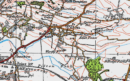 Old map of Pilton in 1919