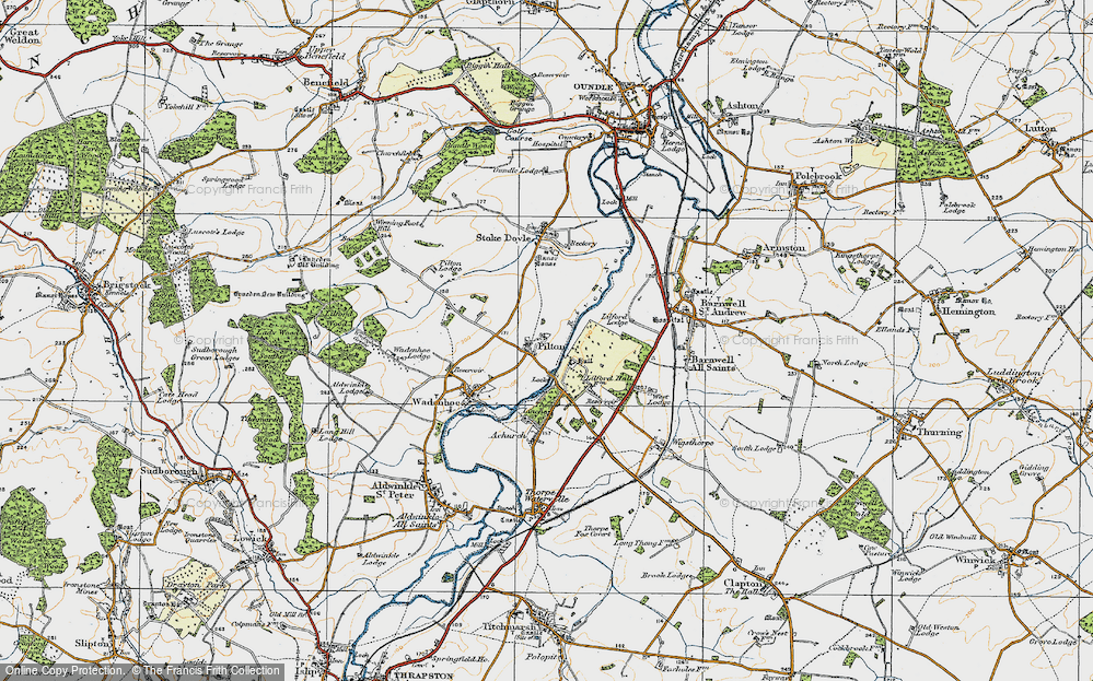 Old Map of Historic Map covering Linches, The in 1920