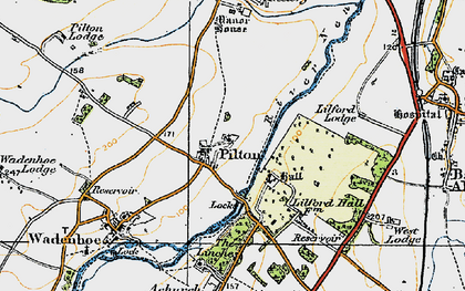 Old map of Linches, The in 1920