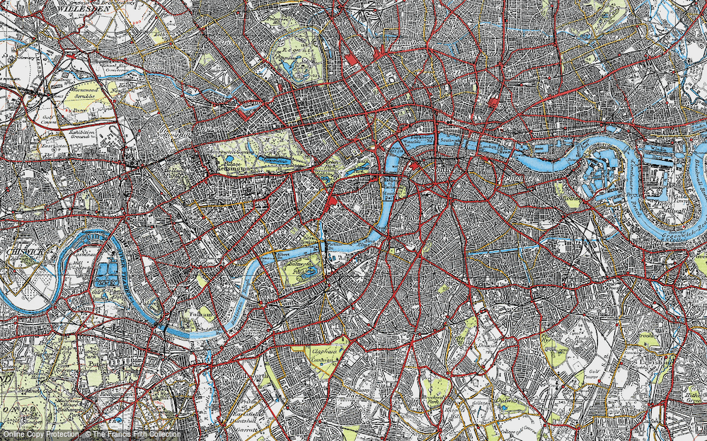 Old Map of Pimlico, 1920 in 1920