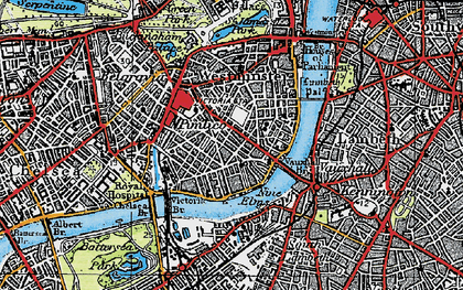 Old map of Pimlico in 1920