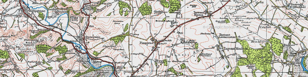 Old map of Letton Park in 1919