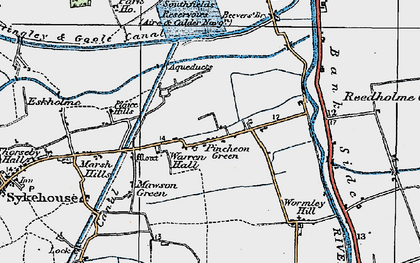 Old map of Wormley Hill in 1924