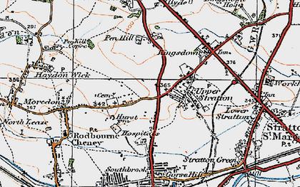 Old map of Pinehurst in 1919