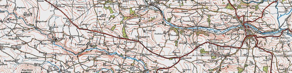 Old map of Westdownend in 1919