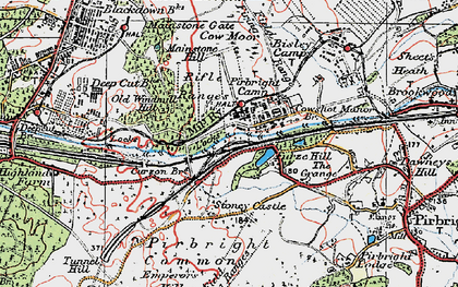 Old map of Pirbright Camp in 1920