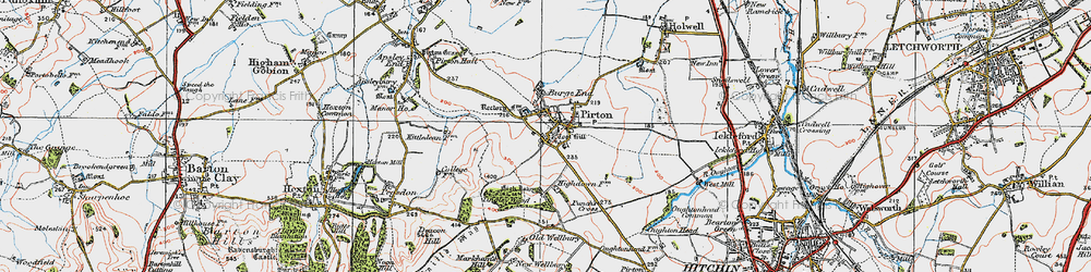 Old map of Toot Hill in 1919
