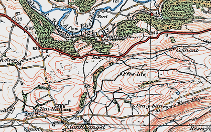 Old map of Allt-fedw in 1922