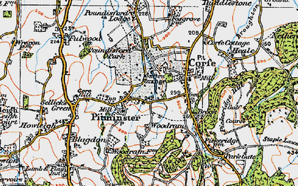Old map of Pitminster in 1919