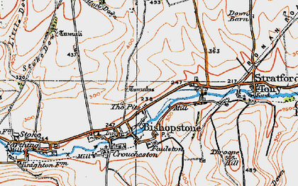 Old map of Windwhistle in 1919