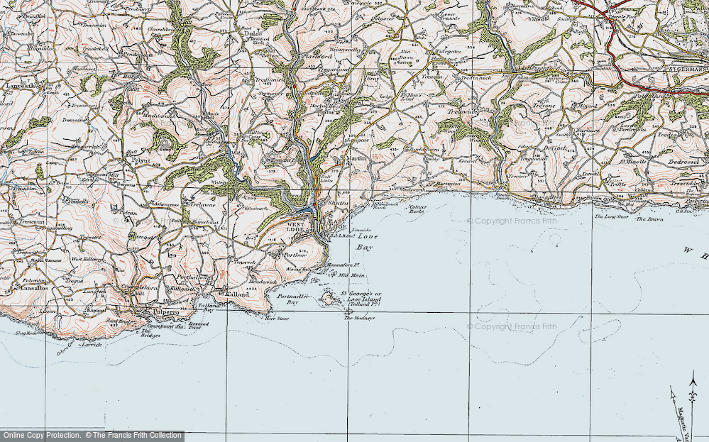 Old Map of Historic Map covering Limmicks in 1919