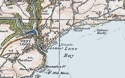Old map of Limmicks in 1919