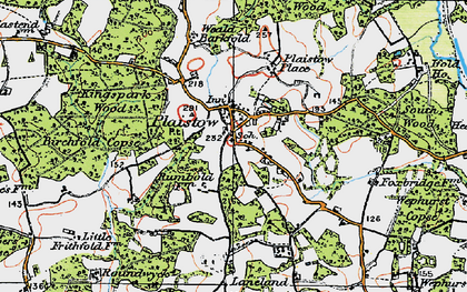 Old map of Plaistow in 1920
