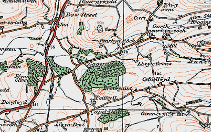 Old map of Allt Dderw in 1922