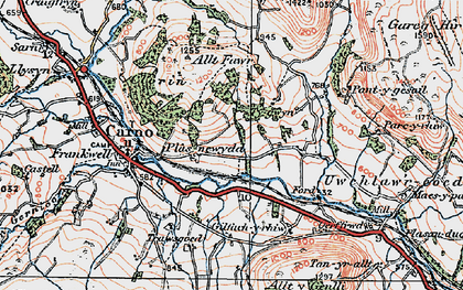 Old map of Wgi-fawr in 1921