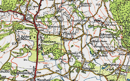 Old map of Plaxtol in 1920