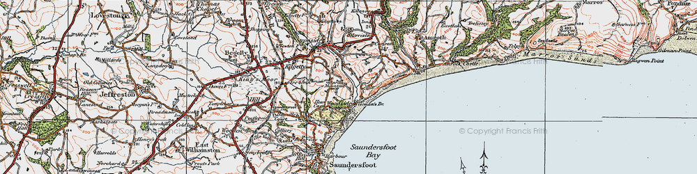 Old map of Wiseman's Br in 1922