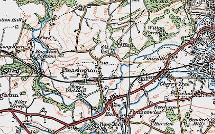 Old map of Pleasington in 1924