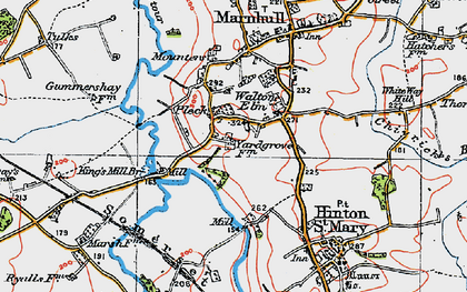 Old map of Bagber Br in 1919