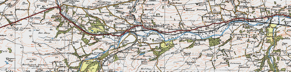 Old map of West Unthank in 1925