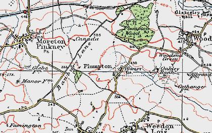 Old map of Badbury Lane in 1919