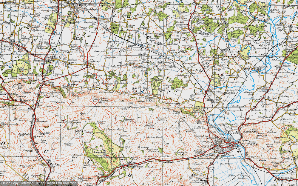 Old Map of Plumpton, 1920 in 1920