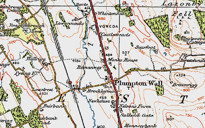 Old map of Lazonby Fell in 1925